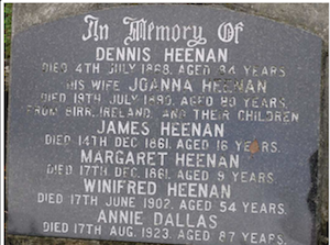 Headstone Dennis Heenan New Zealand