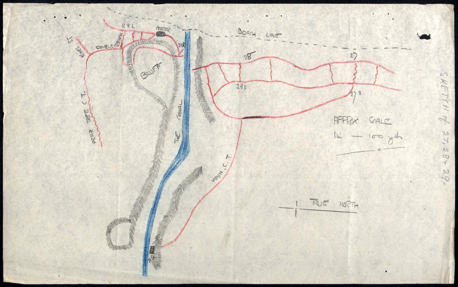 Lawrence Heenan World War 1 Soldier Footsteps Trenches Ww1 Diagram I Found Out That Were Sketch Of Defended By Argyll And Highlanders 10th Battalion